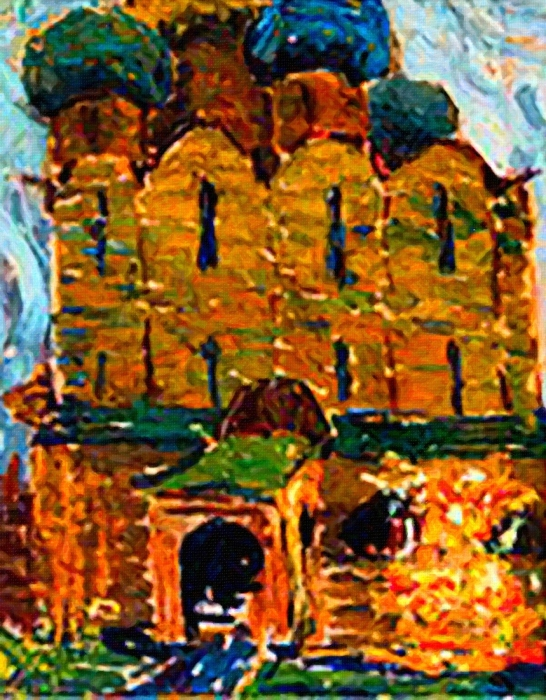 М.Рерих. Этюд «Церковь». 1903-1904 г.г. /Фото из коллекции музея