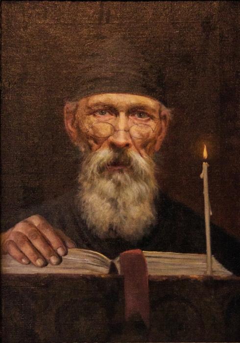 П.Вениг. «Монах за чтением». 1914 год. /Фото из коллекции музея