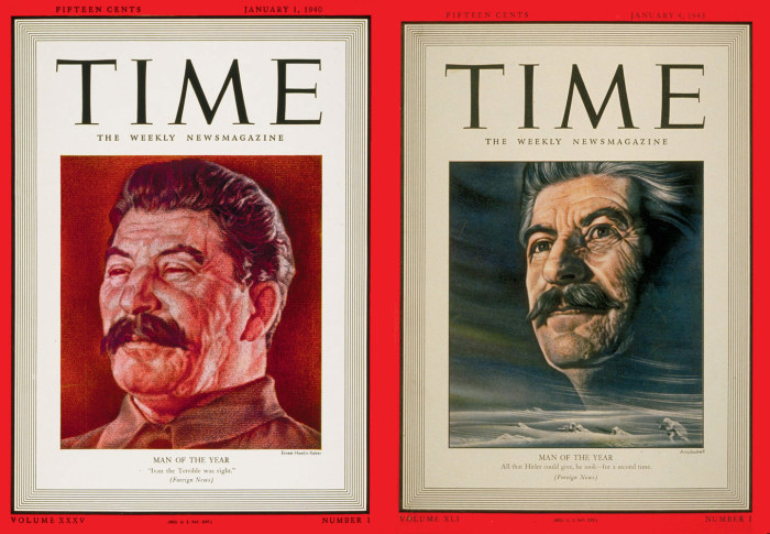 Сталина выбирали Человеком года два раза. /Обложки журнала Time