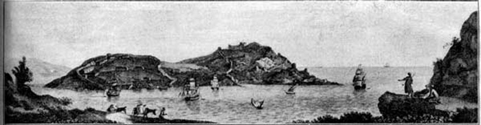 Развалины Херсонеса. /Гравюра из книги П. Сумарокова