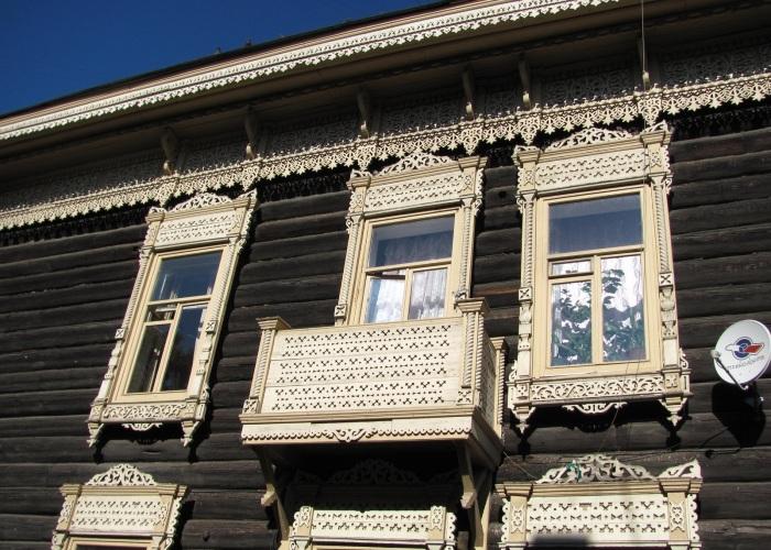 Деревянное зодчество Томска. /Фото:mirnetesen.blogspot.com