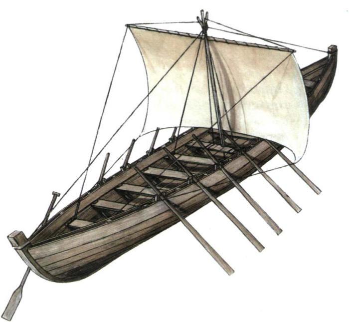 Ушкуи чем-то напоминали суда викингов. /Фото:swordmaster.org