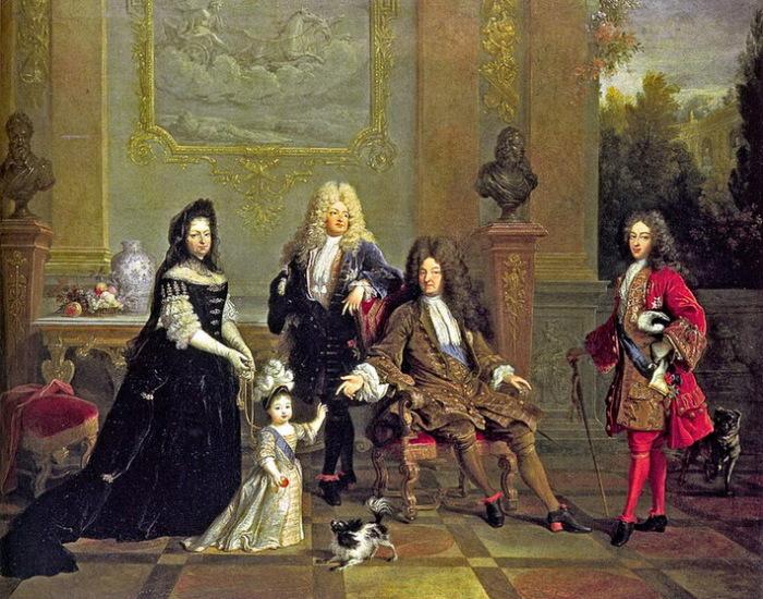 На картине Н. Ларжильера мадам де Вантадур изображена рядом с маленьким Людовиком, протягивающим руку к своему прадеду, Людовику XIV