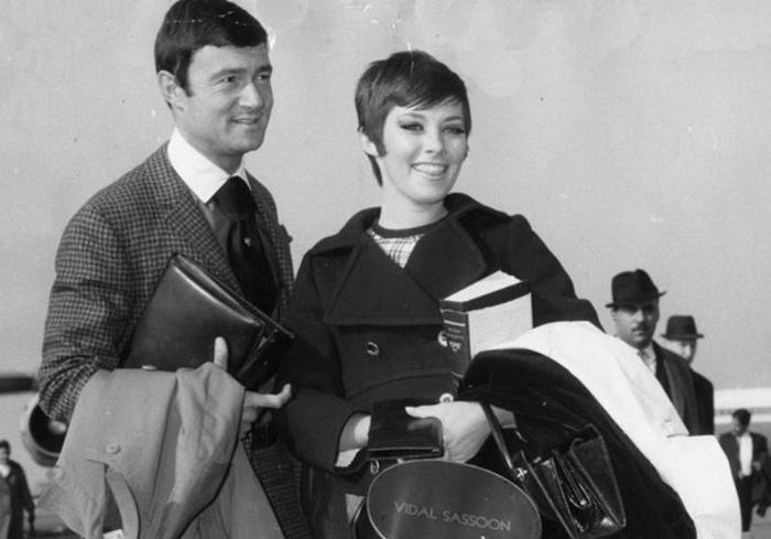 Видал Сассун со второй женой Беверли Адамс