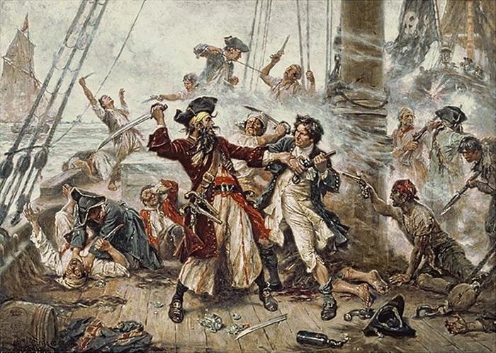 Ж.Л. Феррис. Захват пирата Черная Борода
