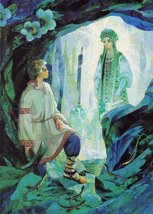 Иллюстрация к сказам Бажова, художник - В.М. Назарук
