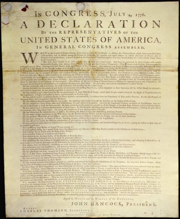 Декларация независимости Соединенных штатов