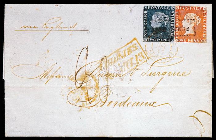 Знаменитый конверт «с двумя Маврикиями»