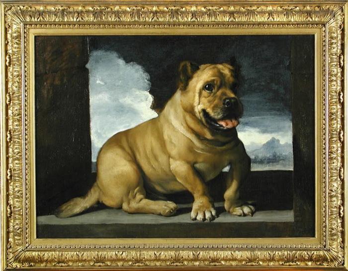 Гверчино. Портрет собаки породы кане-корсо