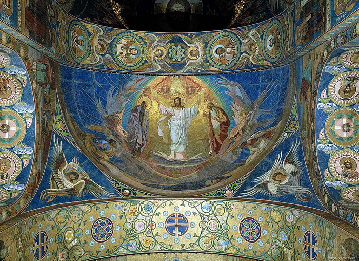 Храм Спас на Крови. Мозаика «Преображение Господне» авторства Фроловых