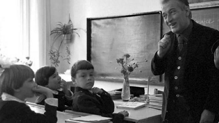 Джанни Родари в школе в СССР