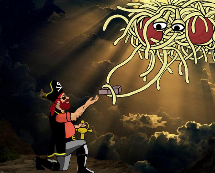 Пираты - особенные персонажи в мире, которым правит Макаронный Монстр