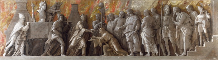 А. Мантенья. Установление культа Кибелы в Риме.