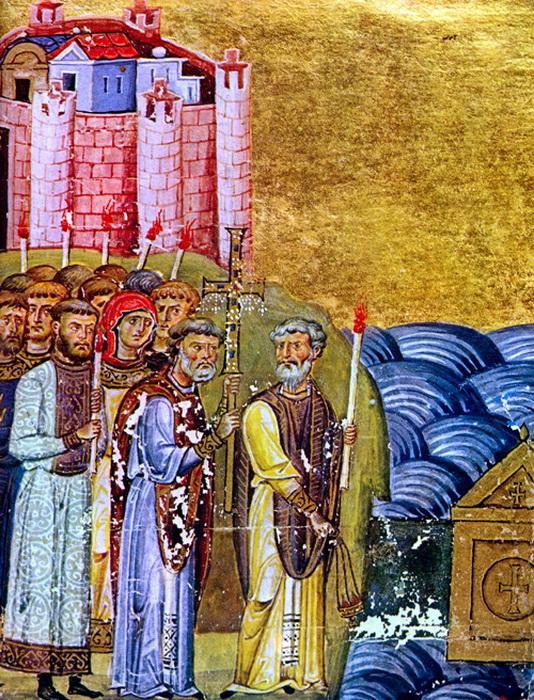 Обретение Кириллом и Мефодией мощей Св. Климента (XI век)