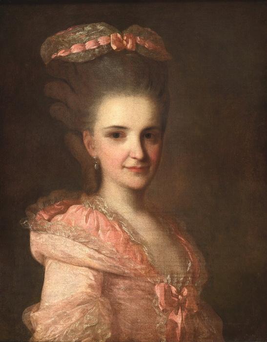 Ф.С. Рокотов. Портрет неизвестной в розовом платье