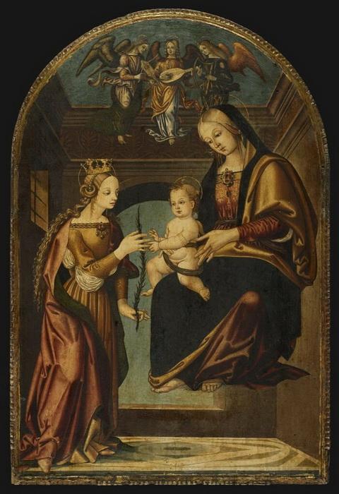 Б. да Мариотто. Обручение Святой Екатерины