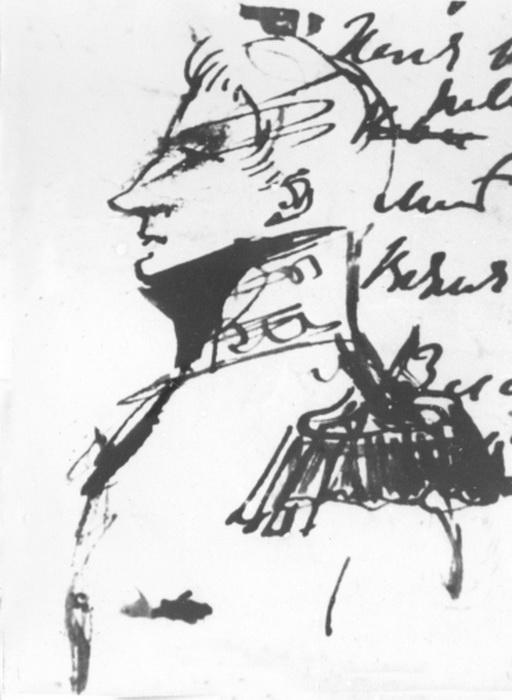 Михаил Воронцов, изображенный рукой Пушкина