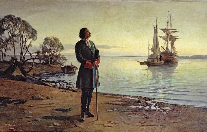 Петр выходил в море и до Великого посольства - на кораблях голландских и английских мастеров