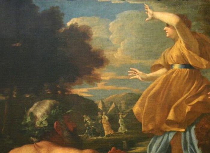 Н. Пуссен. «Нахождение Моисея» (фрагмент).