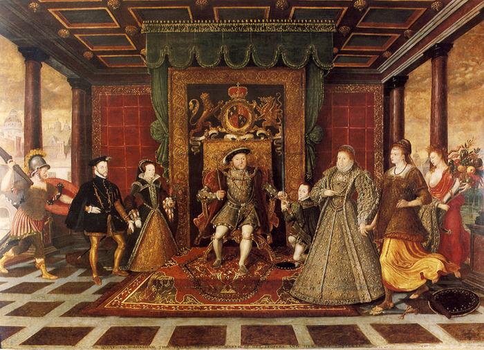 Неизвестный художник. Семья Генриха VIII. Аллегория тюдоровской преемственности
