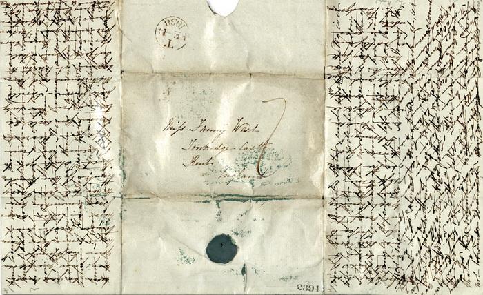 Письмо «в трех измерениях» - крест-накрест и по диагонали