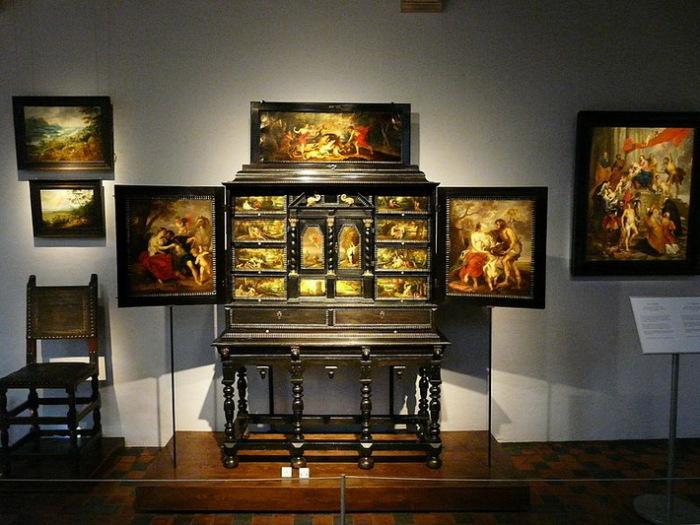 Кабинет редкостей в доме П.-П. Рубенса в Антверпене