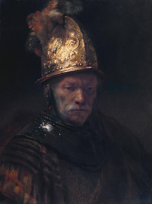 Круг Рембрандта. Мужчина в золотом шлеме