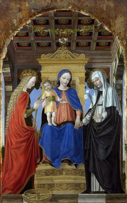 А. Боргоньоне. Мистическое обручение со Святой Екатериной Александрийской и Святой Екатериной Сиенской