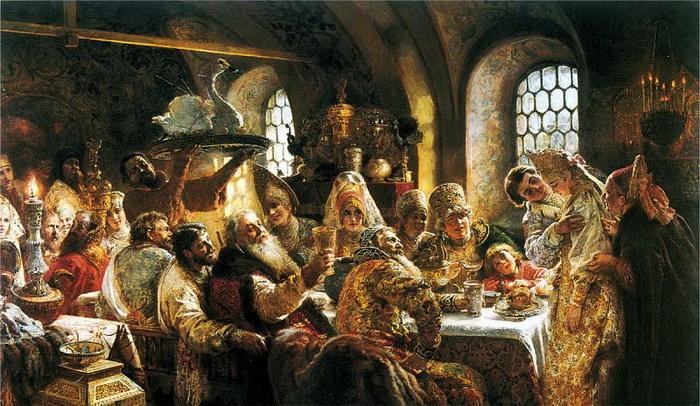 К. Маковский. Боярский свадебный пир. Источник: gallerix.ru