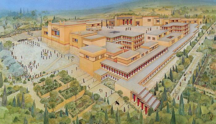 Так мог выглядеть Кносский дворец