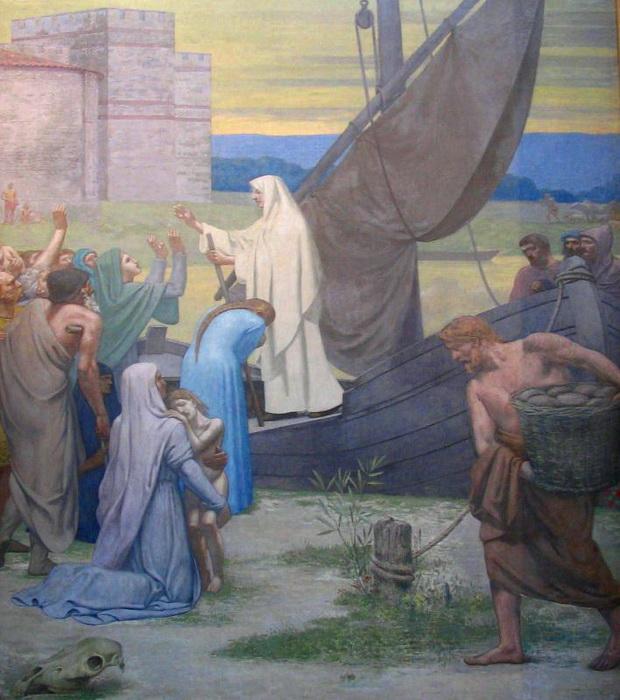 П. Пюви де Шаванн. Святая Женевьева снабжает хлебом осажденный Париж