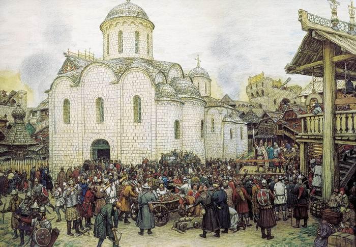 А. Васнецов. Оборона Москвы от хана Тохтамыша