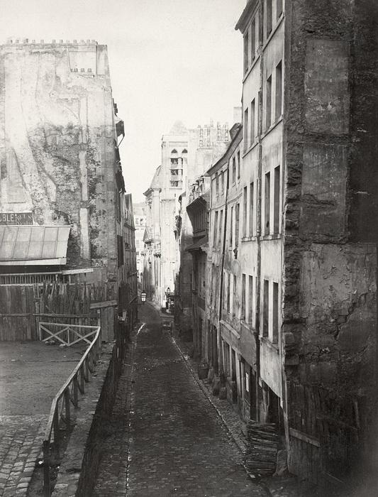 Улица на Левом берегу Парижа, середина XIX века