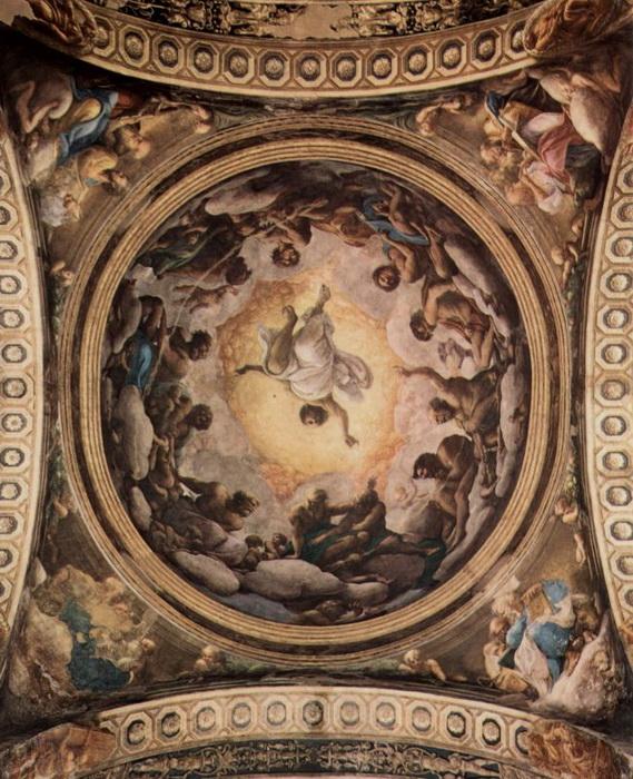 Фрески Корреджо в церкви Сан-Джованни Евангелиста