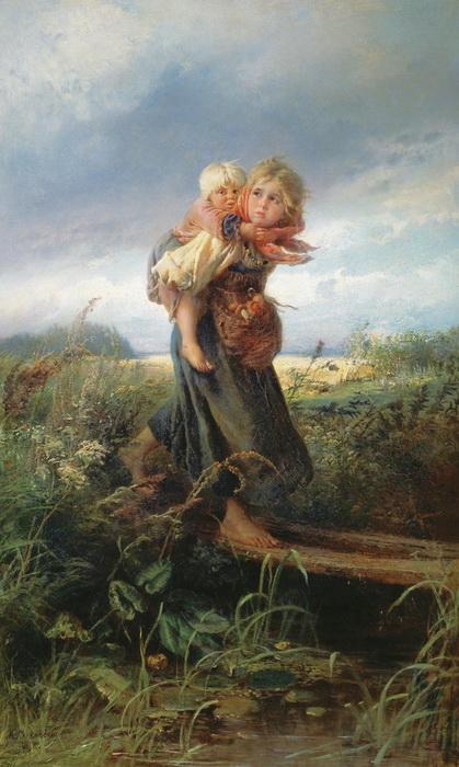 К. Маковский. Дети, бегущие от грозы