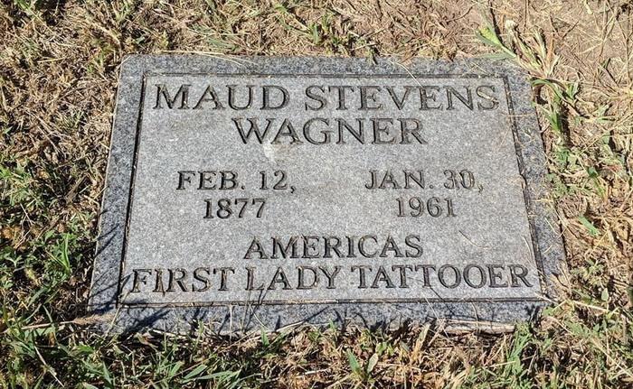Камень на могиле Мод Вагнер