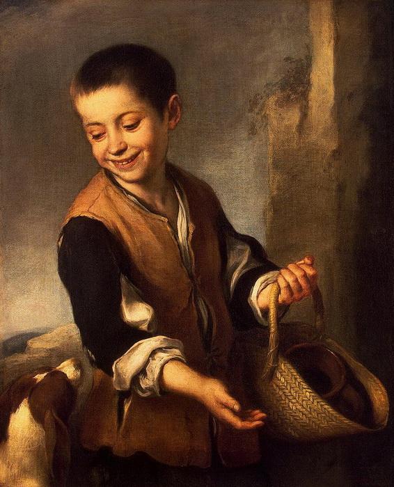 Б.Э. Мурильо. Мальчик с собакой