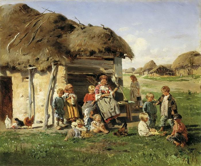 К. Маковский. Крестьянские дети