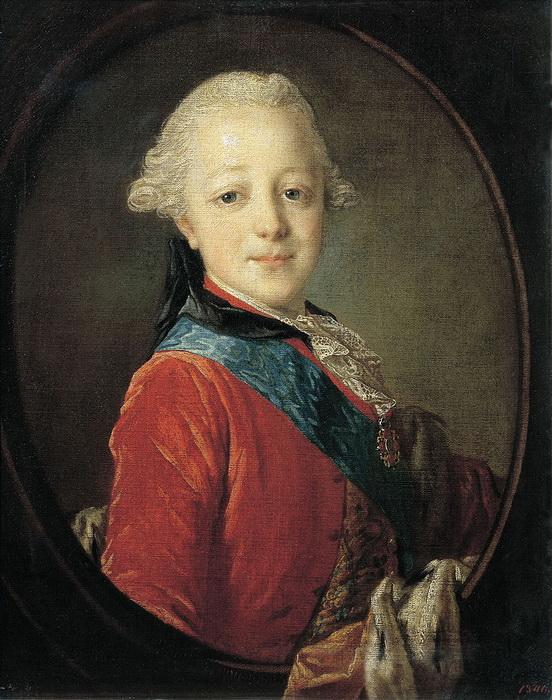 Портрет великого князя Павла Петровича в детстве работы Ф.С. Рокотова