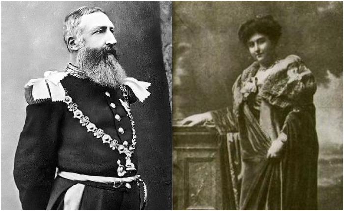 Король Леопольд II и Каролина Лакруа