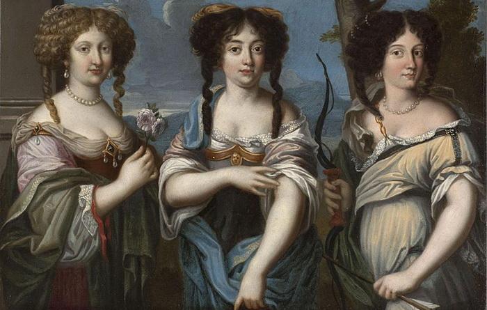 Портрет трех сестер Манчини, Олимпия - в центре