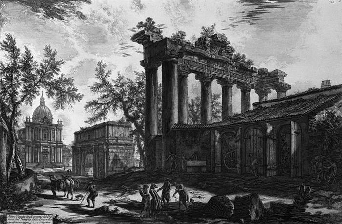 Джованни Баттиста Пиранези. Храм Сатурна
