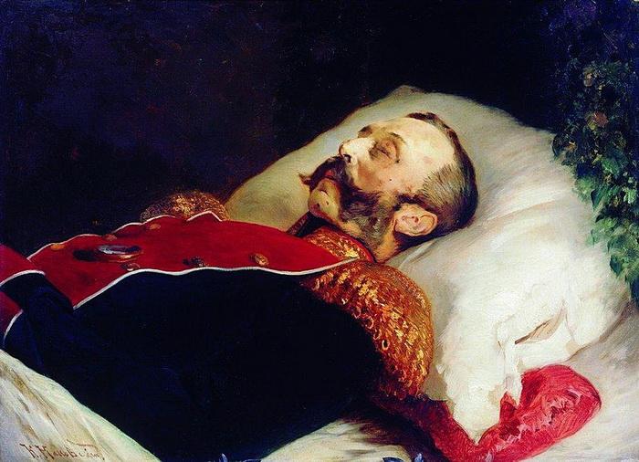 К. Маковский. Портрет Александра II на смертном одре