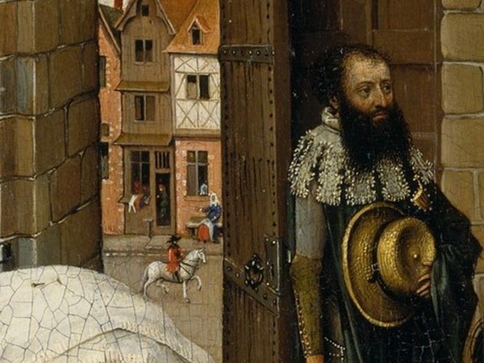 Фрагмент левой створки алтаря Мероде