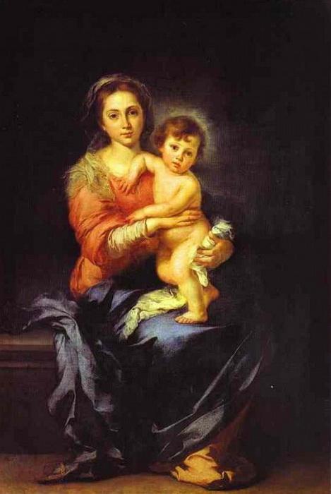Б.Э. Мурильо. Мадонна с младенцем