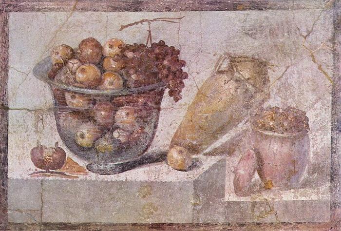 Древнеримская фреска из г. Помпеи