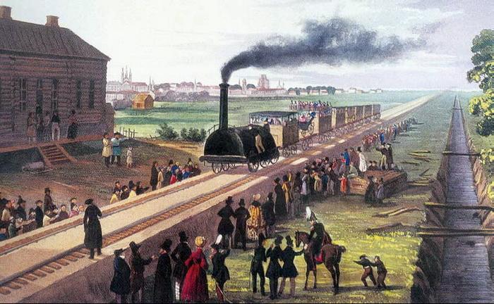 Царскосельская железная дорога приняла первых пассажиров в 1837 году.