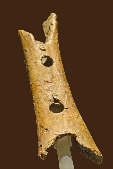 Самый старый в истории музыкальный инструмент - костяная флейта с отверстиями