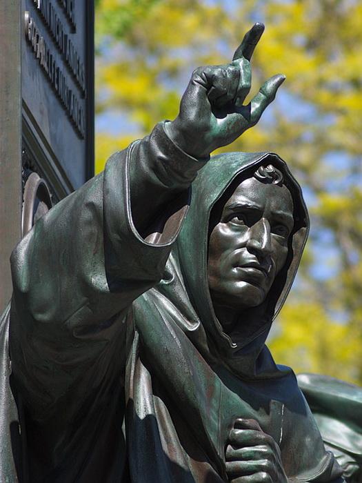Скульптура Савонаролы в составе памятника Лютеру в немецком Вормсе
