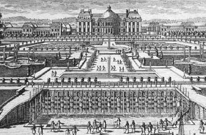Во-ле-Виконт на гравюре XVIII в.